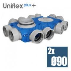 Uniflexplus efektívny plochý kolektor 90mm 12 vývodov TVG-12x90
