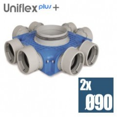 Uniflexplus efektívny plochý kolektor 90mm 8 vývodov TVG-S-8x90